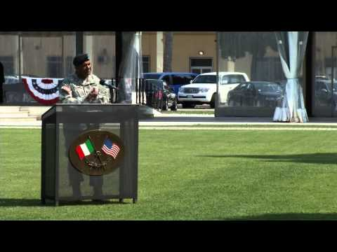 USARAF Change of Command - MG Williams's Speech