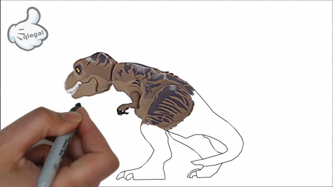 Como Desenhar Colorir E Animar Tiranossauro Rex Trex Youtube