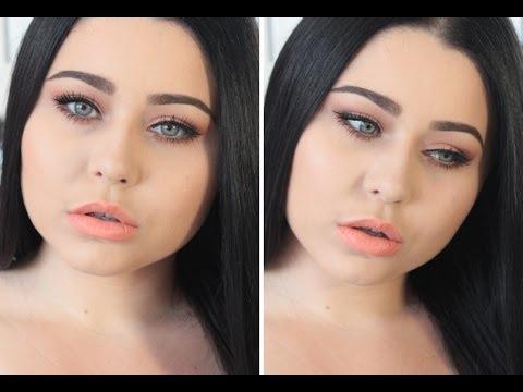 Chit Chat GRWM Makeup & Hair ♡ Warm Peach Eyes & Orange Lips