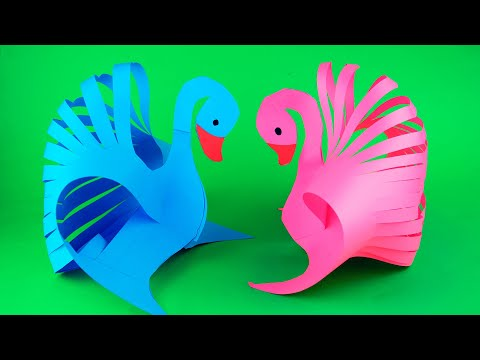 How to make a paper swan very easy. Diy paper toy.