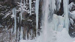 [ 4K Ultra HD ] 氷瀑の平湯大滝 Frozen waterfall of Hirayu Otaki (Shot on RED EPIC)