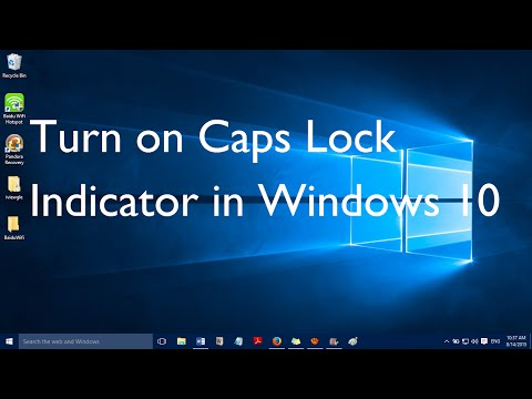 How to Turn on Caps Lock Indicator in Windows 10 [Sound]