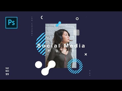 How To Create Easy Social Media Post Template In Photoshop - Photoshop Tutorials