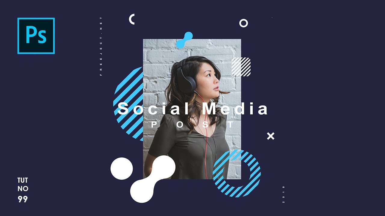 How To Create Easy Social Media Post Template In Photoshop Photoshop Tutorials Youtube