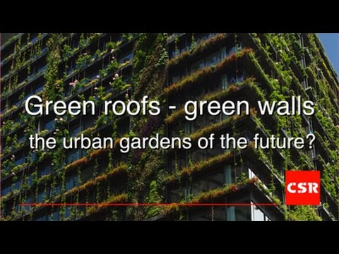 Green Roofs - Green Walls. The urban gardens of the future?