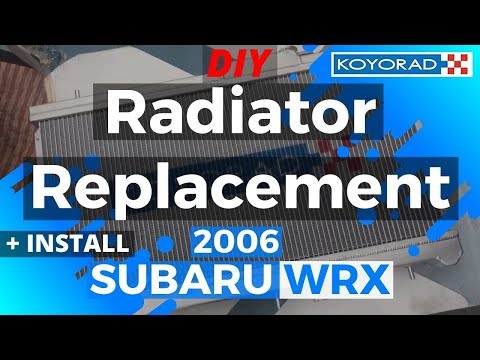 Subaru WRX Radiator Replacement (DIY) KOYORAD Install