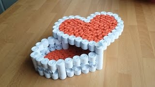 DIY Tutorial Quilling Heart Box | Gör Det Själv: Quilling Hjärtformad Box