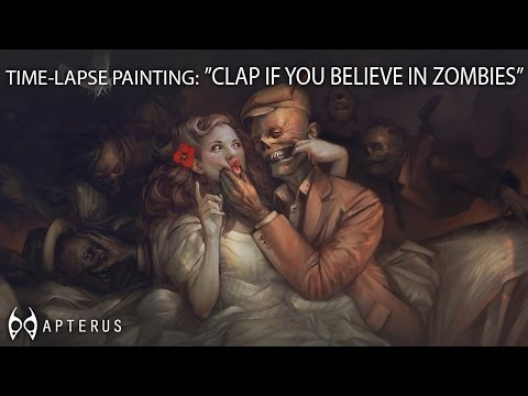 Speed painting: ''Clap if you believe in zombies''