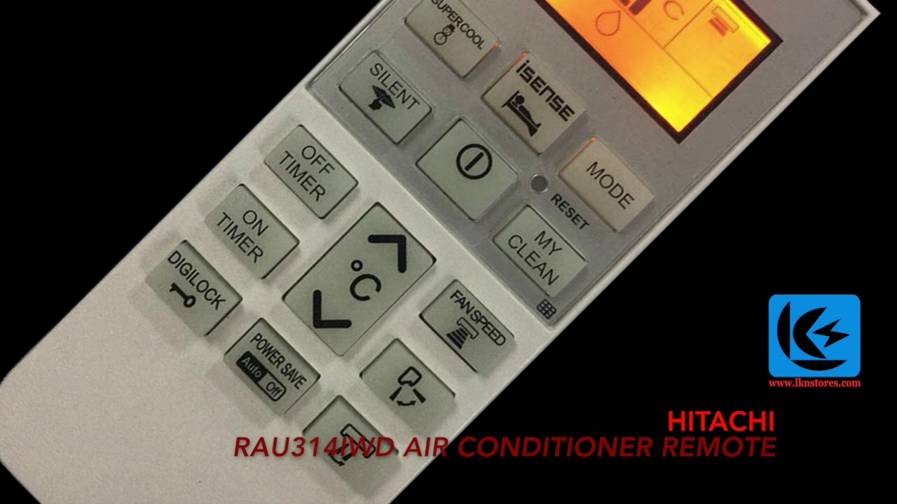 HITACHI RAU314IWD AIR CONDITIONER REMOTE