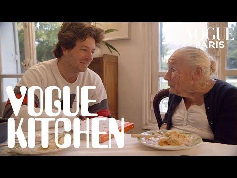 French chef Jean Imbert and his grandma cook crème caramel | Vogue Paris