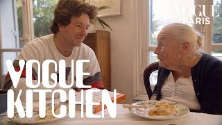 French chef Jean Imbert and his grandma cook crème caramel | Vogue Paris