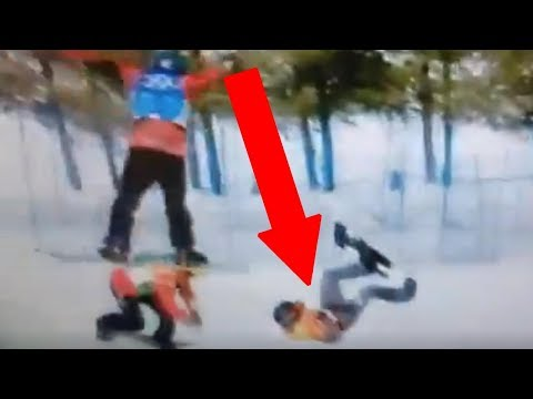 Austrian Snowboarder SNAPS His Neck After Losing Control During Jump