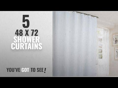 Top 10 48 X 72 Shower Curtains [2018]: Ufaitheart Bathroom Stall Size Shower Curtain 48 x 72 Inch,