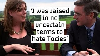 Jacob-Rees Mogg shows Jess Phillips around his constituency