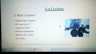 """#Esperanto – Clase con el libro """"Saluton"""" – 1-a Leciono"""
