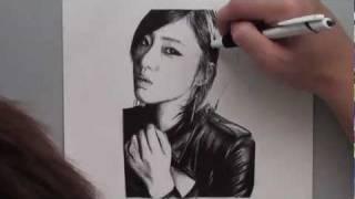 Ham Eunjung - Ballpoint pen drawing