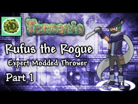Terraria 1.3 Expert Thrower Part 1 | Melanie's Trap for Rufus! | 1.3 Modded Throwing Let's Play