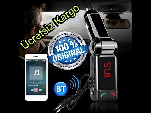 BC06 Araç Kiti FM TRANSMITTER BLUETOOTH Mp3 Çalar Çakmaklık Giriş Usb Bellek Şarj Aleti Aux Kablo