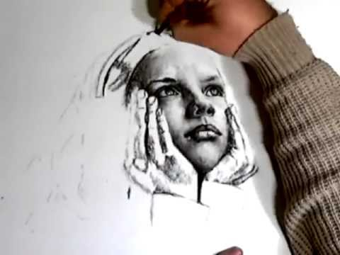 daydreams - charcoal drawing