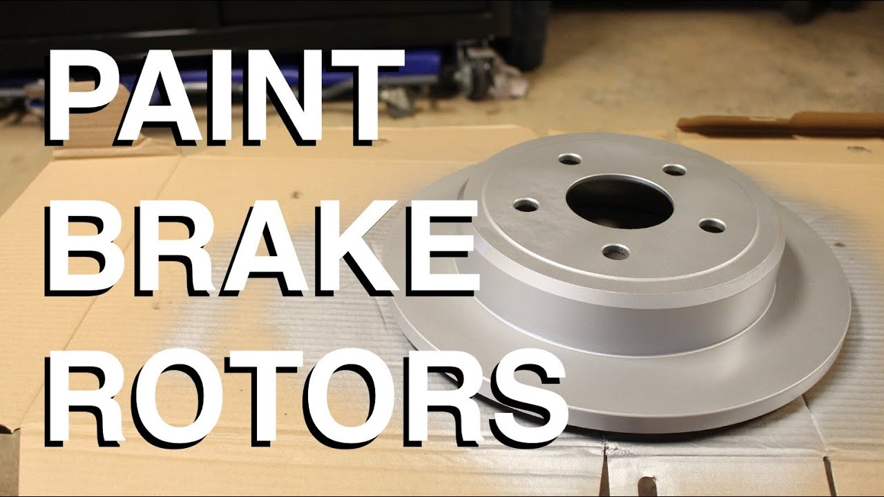How To Paint Brake Rotors Youtube