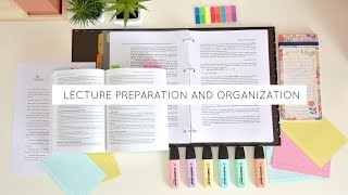 Class Preparation and Organization [Lectures]