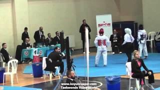 49kg Quarterfinal Hilal Simsek vs Aleyna Ozdemir (2016 Turkish Junior TKD championships)