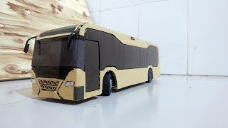 How To Make Tata Motors Hybrid Bus from cardboard - hybrid electric bus