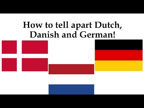 How to tell apart Danish, German and Dutch