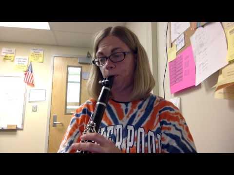 Minuet in G - clarinet