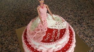 Barbie Bebekli Pasta Yapılışı- Poupee Gateau Part 1 [HD]