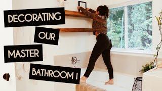 Decorating our master bathroom \\ Weekend Vlog
