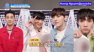 [Vietsub] Visual Top 11 to 6 picked by trainees Produce 101@EP 5 cut