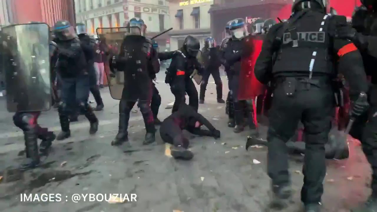 Paris protests, a sign of the times, The Police & Military Are Your Enemy