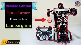 Lamborghini Transformers RC CAR with price 2.4Ghz UNBOX & TEST Remote Control Toy Car Kids (Troops)
