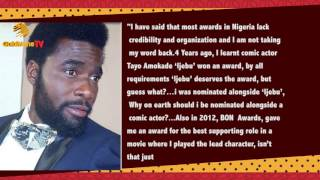 ACTOR IBRAHIM CHATTA REVEALS REASONS FOR REJECTING CITY PEOPLE AWARD NOMINATION