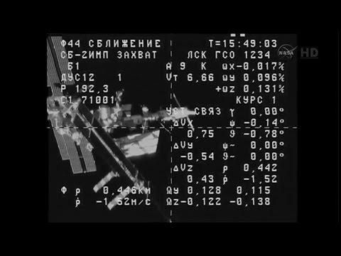 Russian supply rocket docks at ISS