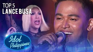 "Lance Busa performs ""Lean On Me"" 