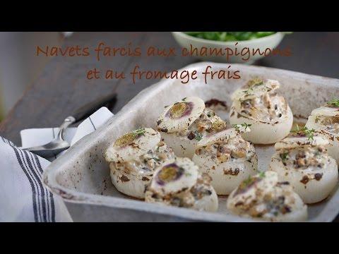 recette-de-navets-farcis-aux-champignons-et-au-fromage-frais