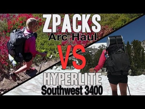 Packs I Used on the PCT (Zpacks Arc Haul vs Hyperlite Southwest 3400)