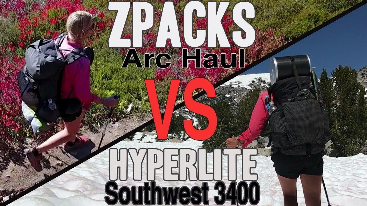 Packs I Used on the PCT (Zpacks Arc Haul vs Hyperlite Southwest 3400)