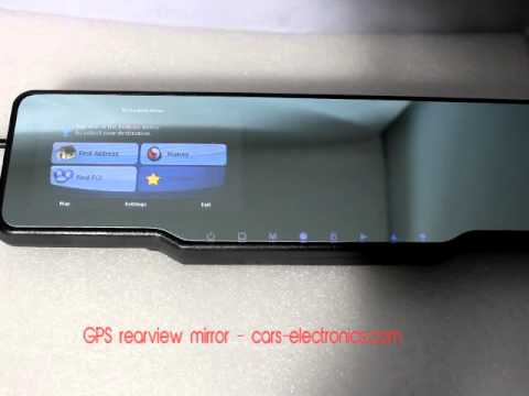 Rear View Mirror Gps Navigation Smart Mirror Gps Mirror Youtube