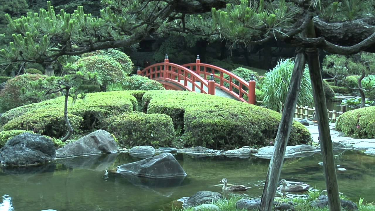 Japanese Garden In Tokyo, Japan With Waterfalls, Bridge, Miniature  Landscapes And Bonsai Trees   YouTube