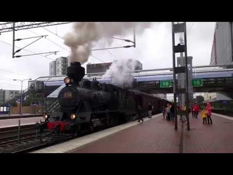 """VR Class Tk3 1136 """"Pikku-Jumbo"""" leaving Tikkurila station"""