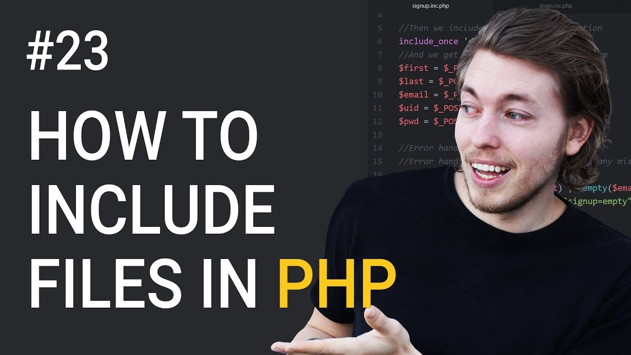 23: How to Include Documents in PHP | PHP Tutorial | Learn PHP Programming | PHP for Beginners