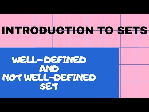 1 - Introduction to Sets | Well-defined and Not well-defined Set | Grade 7 |Teacher She Rosa-ut|