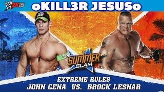 John Cena vs Brock Lesnar - WWE Summerslam 2014 I WWE 2K15 XBOX ONE Gameplay