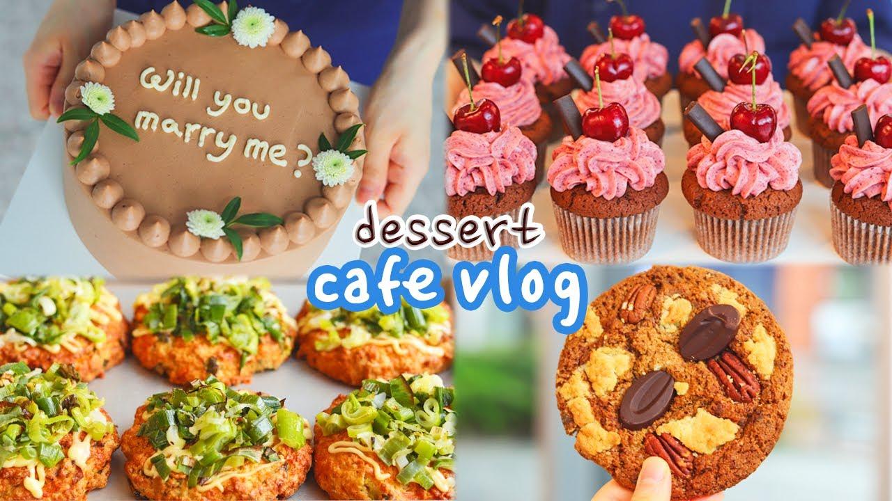 설렘주의🎀 저랑 결혼하실래요? 프로포즈용 케이크를 의뢰받다!😍 |Cafe Vlog