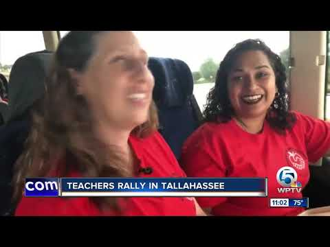 Teachers rally in Tallahassee