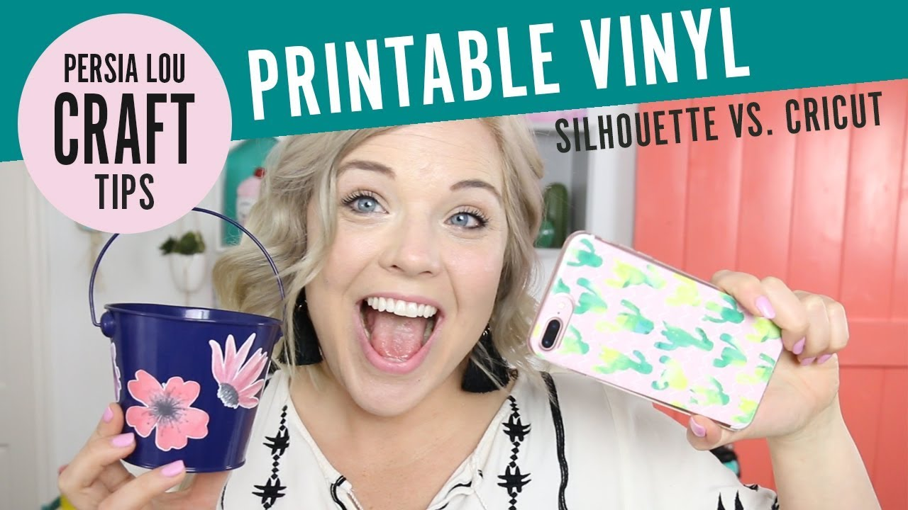 photograph about How to Use Printable Vinyl With Silhouette titled Silhouette vs Cricut: How towards Hard work with Printable Adhesive Vinyl