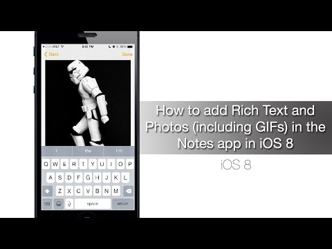Image Result For How To Add Rich Text And Photos Including Gifs In The Notes App In Ios